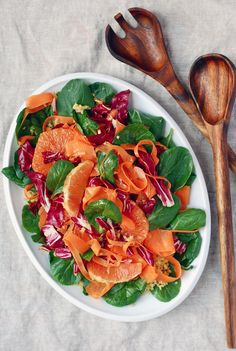 Radicchio Bulgar Salad with Lovely Pink Cara Cara Oranges