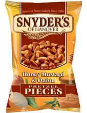 Snyders of Hanover Honey Mustard and Onion Pretzel Bits. Addicting.