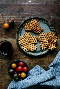 Savoury waffles with blue cheese and bacon / Marta Greber