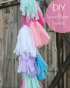 DIY Tissue Paper Tassels by www.thecasualcraftlete.com