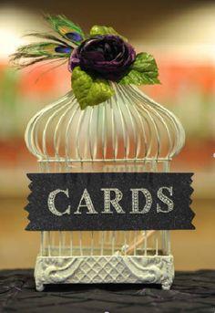 wedding cards, lime wedding decorations, birdcag card, wedding card box & lime green, graduation cards