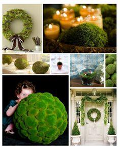 diy moss, christma inspir, moss ball, garden idea, spring inspir