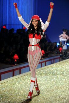 Chanel Iman at 2010 Victoria's Secret Fashion Show