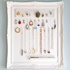 necklace storage diy, necklac display, stuff, diy necklace display