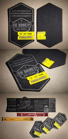 Beautifully Detailed Textured Black Letterpress Business Card
