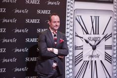 Nacho Montes posando en el photocall de Imante, Suárez