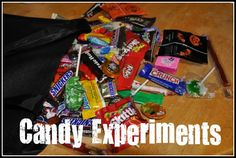 Don't forget to do these Halloween candy experiments!