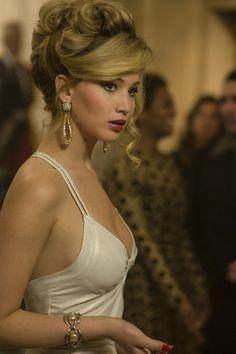 formal upstyl, low cut, white dress, jennif lawrenc, american hustle, jennifer lawrence, cut white