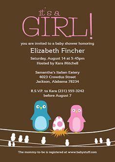 Customizable baby shower invitation template