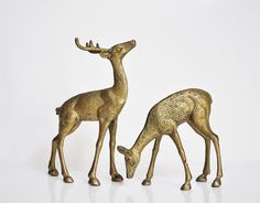 Large Brass Deer