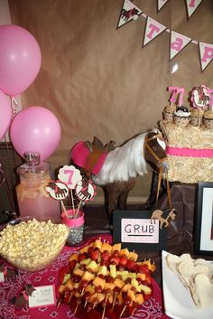 "Photo 6 of 17: Ponies / Birthday ""7th Birthday Pony/Cowgirl Party""   Catch My Party"
