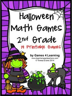 Halloween Math Games Second Grade by Games 4 Learning for bringing some Halloween fun into the classroom. 14 printable math games $