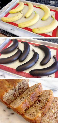 How To Quickly Ripen Bananas For Making Banana Bread! #bananabread #bananas