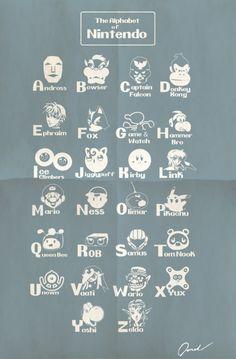 Alphabet of Nintendo. #fun #taymai #gaming