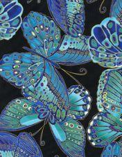 Timeless Treasures Shimmer Butterflies Quilt Fabric Fat Quarter