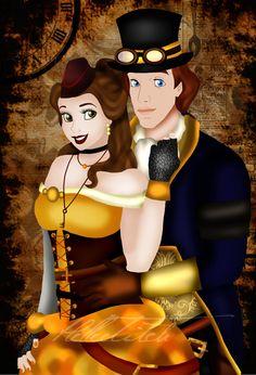 http://th05.deviantart.net/fs70/PRE/i/2012/240/6/f/steampunk_belle_and_adam_by_helleetitch-d5ct29o.jpg