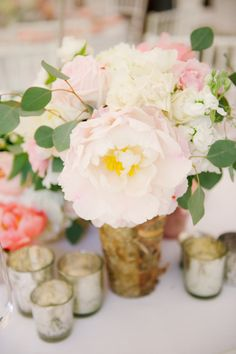 blooming #peony #centerpiece by http://intrigue-designs.com, Photography by landmhewitt.com  Read more - http://www.stylemepretty.com/2013/08/09/baltimore-wedding-from-l-hewitt-photography/