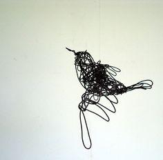 wire bird, died bird, bird sculptur