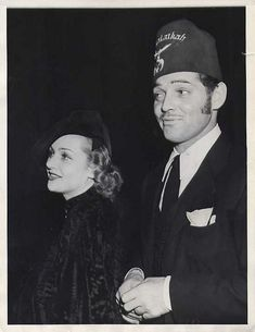 Carole Lombard and Clark Gable - More at http://cine-mania.it