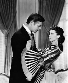 Clark Gable and Vivien Leigh. Gone With The Wind, my favorite movie of all time.