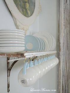 shutter plate rack, recycle, upcycle, home, kitchen storage, open shelving storage