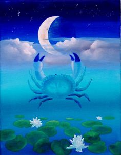 Cancer Crab and the moon.