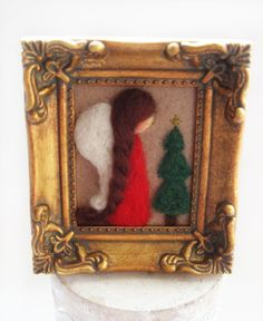 Christmas Decor - Christmas Angel - Felted Angel- Whimsical Angel via Etsy