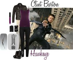 """Clint Barton-Hawkeye"" by violet1998 on Polyvore"