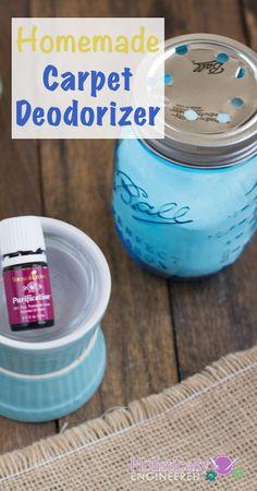 Homemade Carpet Deodorizer | holisticallyengineered.com #youngliving #essentialoils #DIY