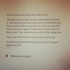 The Inspirational Note Apple Gives to New Employees on Their First Day . . .
