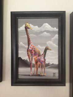 "Michael Summers print ""A Mother's Love"" #mother #mom #gifts #art #giraffe"