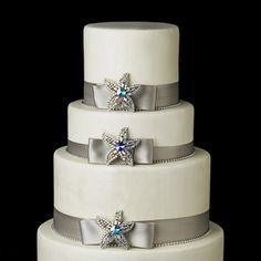 starfish brooch, brooch pin, flower cakes, wedding cakes, rhineston starfish