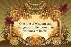 One Line of Wisdom Can Change Everything