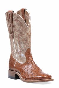 Ostrich Square Toe Boots by Boulet