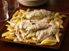 Creamy Basil Chicken - Enjoy dinner cooked with chicken, pasta and Progresso™ Recipe Starters™ basil cooking sauce – a flavorful meal.