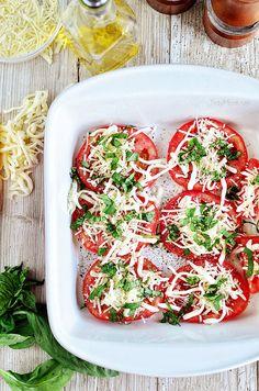 Cheesy Baked Tomatoes recipe at TidyMom.net