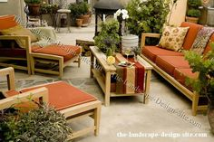 Outdoor Room With Teak Furniture