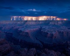 Grand Canyon Lightning Storm – på Photo By Dan Ransom.
