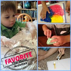 Favorite Fine Motor Activities from Simply Real Moms
