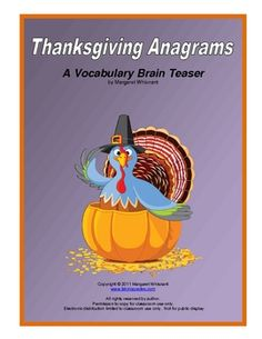Thanksgiving Anagrams - Re-pinned by @PediaStaff – Please Visit http://ht.ly/63sNt for all our pediatric therapy pins