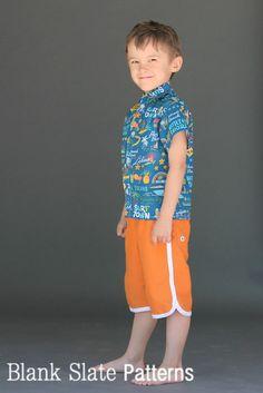 Big Island Board Shorts PDF SEwing Pattern by Blank Slate Patterns