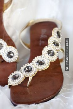 Jewelled sandals - love how it comes up the side of your foot..