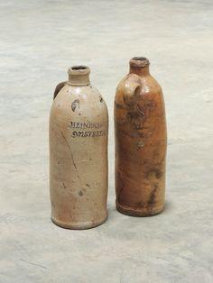 Antique Heineken stoneware bottle
