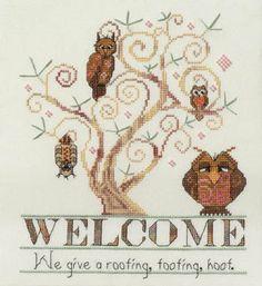 Owl Cross Stitch Kits | Owl Welcome - Cross Stitch Pattern