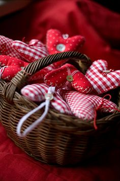 graphic design, gingham, christmas time, red, valentine day, white, valentine decorations, baskets, fabric hearts