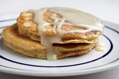 Carrot Cake Pancakes With Cream Cheese Sauce