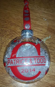 Personalized ornament for newly weds.