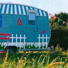 cute painted caravan
