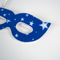 Super Hero Mask - Blue with White Stars