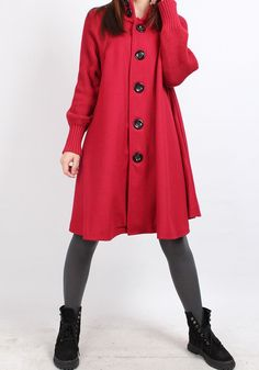 Knitted sleeve wool cape coat 4 color by MaLieb on Etsy, $105.00